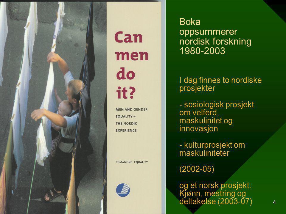 Boka oppsummerer nordisk forskning 1980-2003