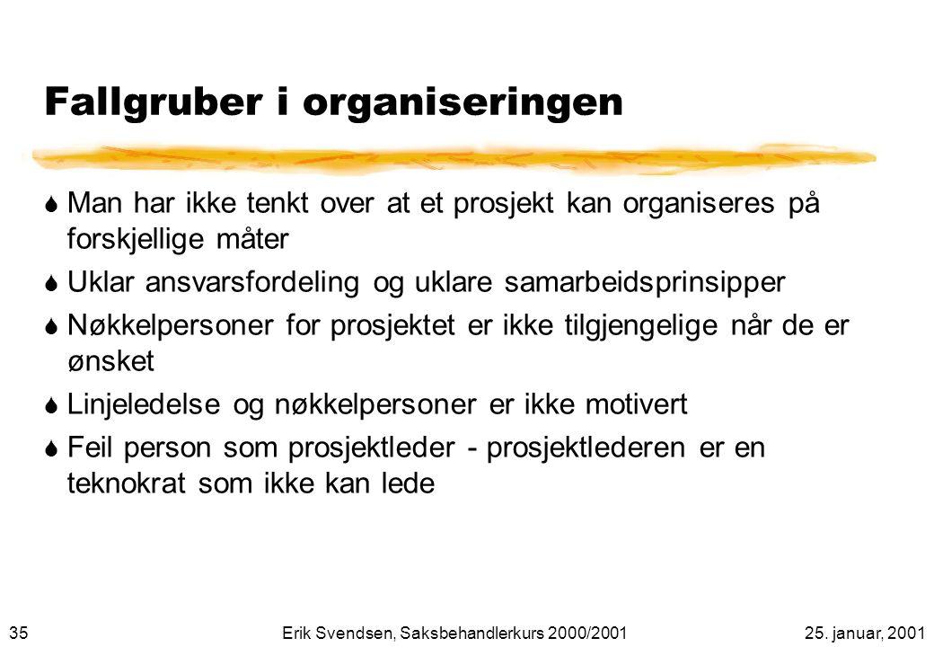 Fallgruber i organiseringen