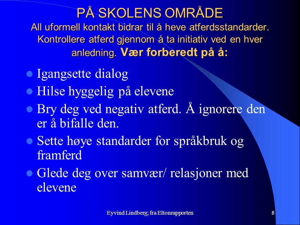 Eyvind Lindberg; fra Eltonrapporten