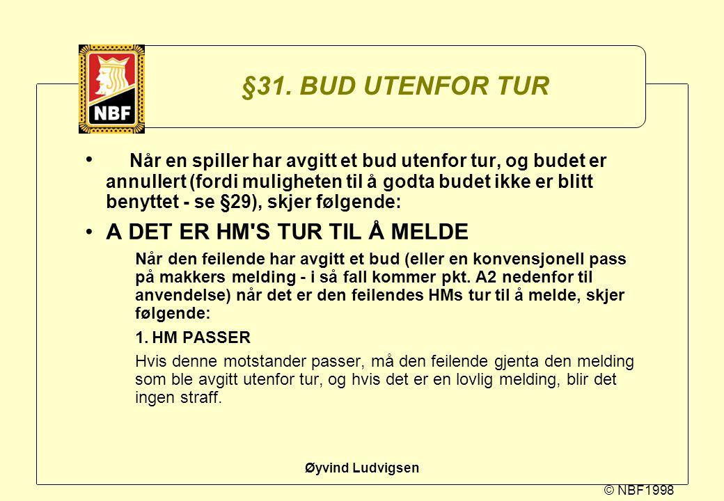 §31. BUD UTENFOR TUR