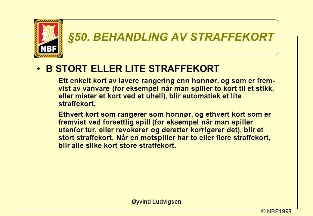 §50. BEHANDLING AV STRAFFEKORT