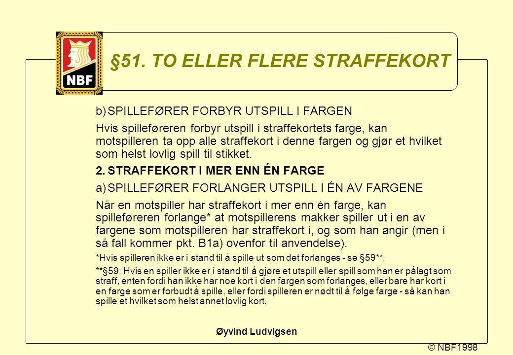 §51. TO ELLER FLERE STRAFFEKORT