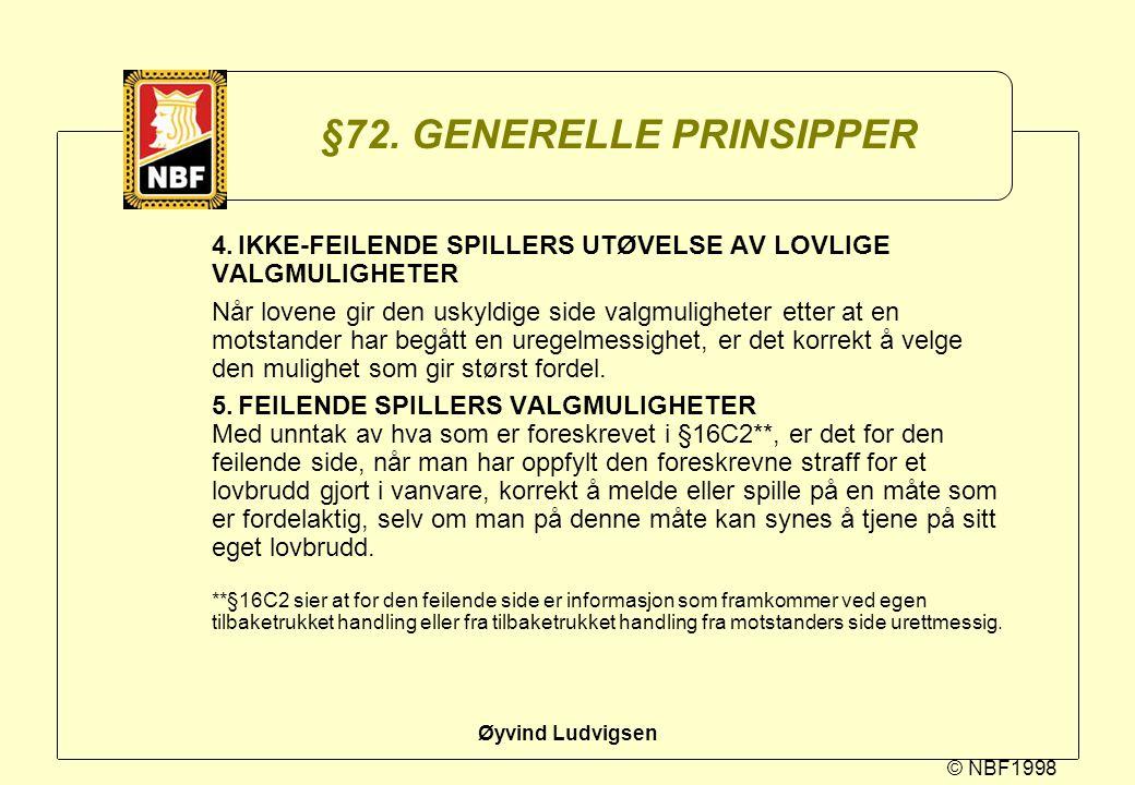 §72. GENERELLE PRINSIPPER