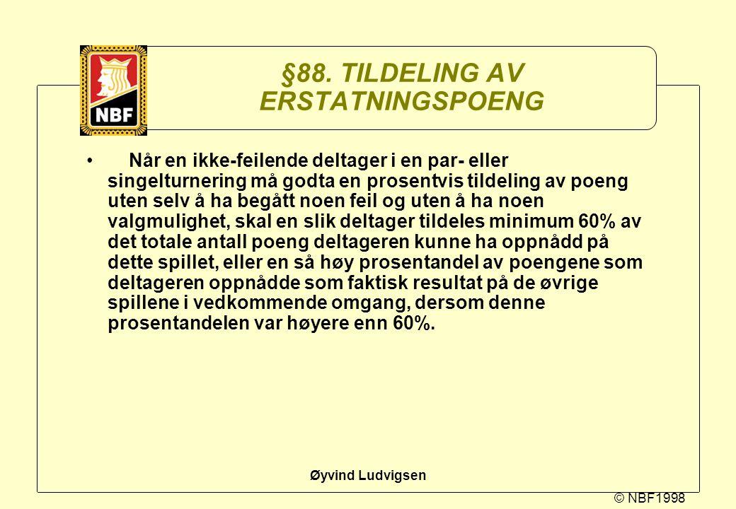 §88. TILDELING AV ERSTATNINGSPOENG