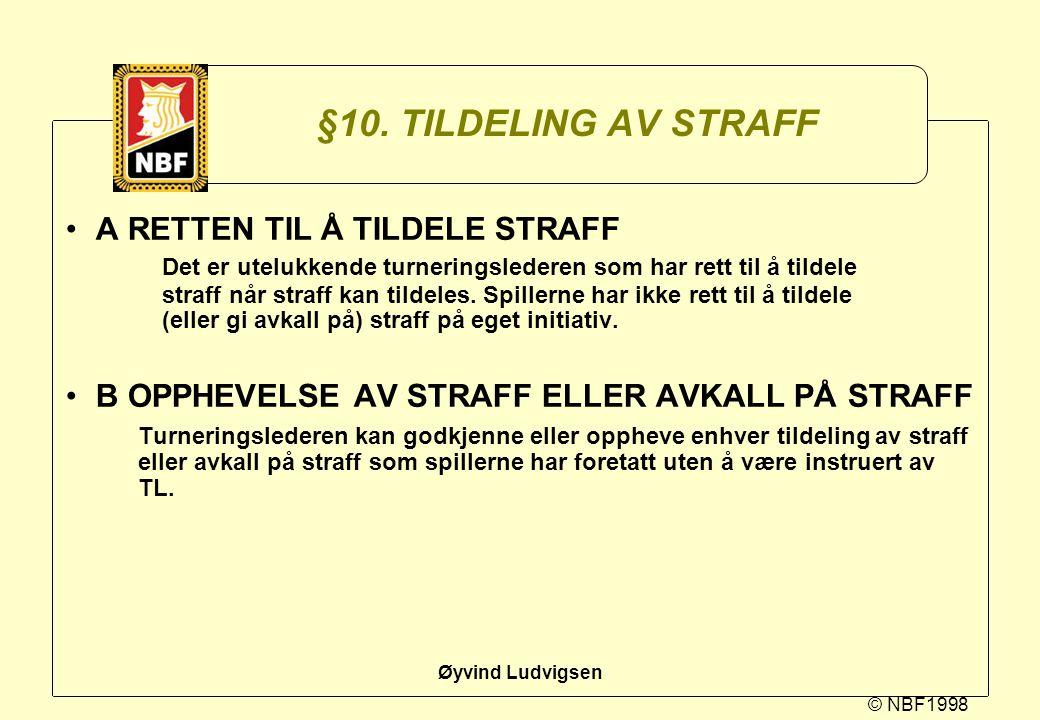 §10. TILDELING AV STRAFF