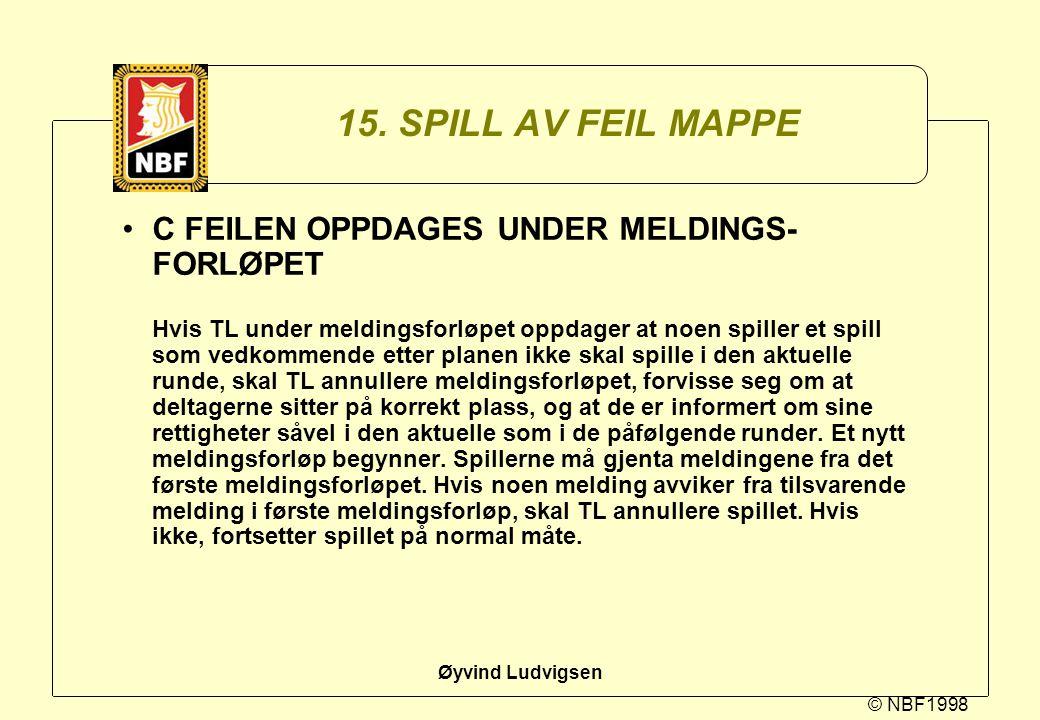 15. SPILL AV FEIL MAPPE