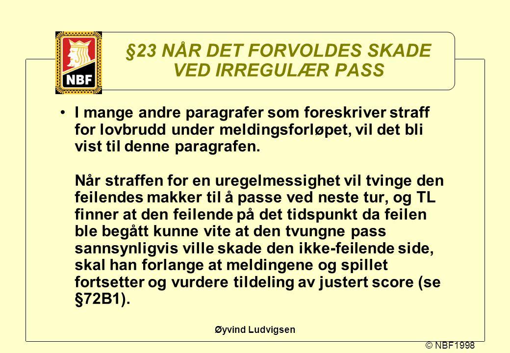 §23 NÅR DET FORVOLDES SKADE VED IRREGULÆR PASS