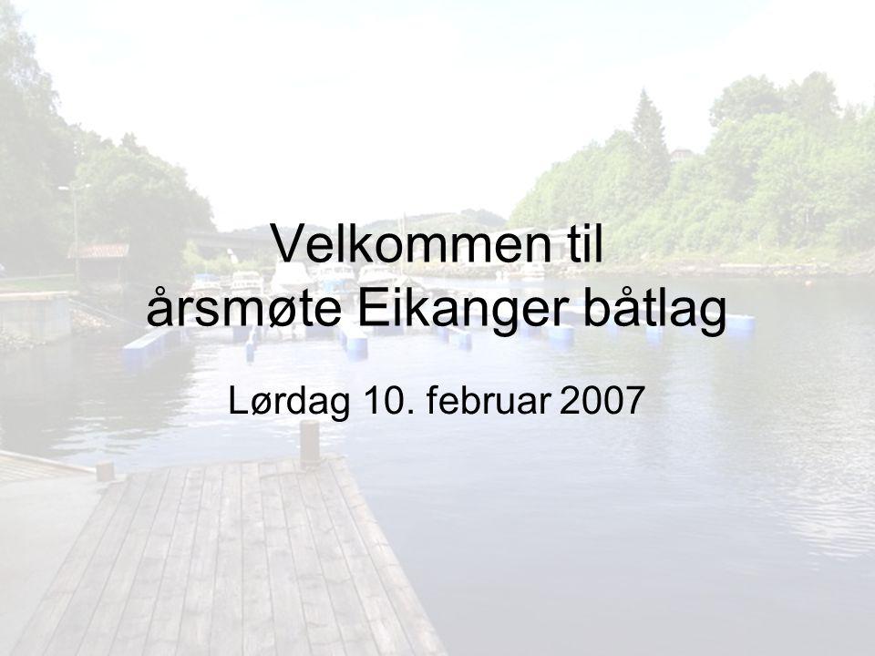 Velkommen til årsmøte Eikanger båtlag