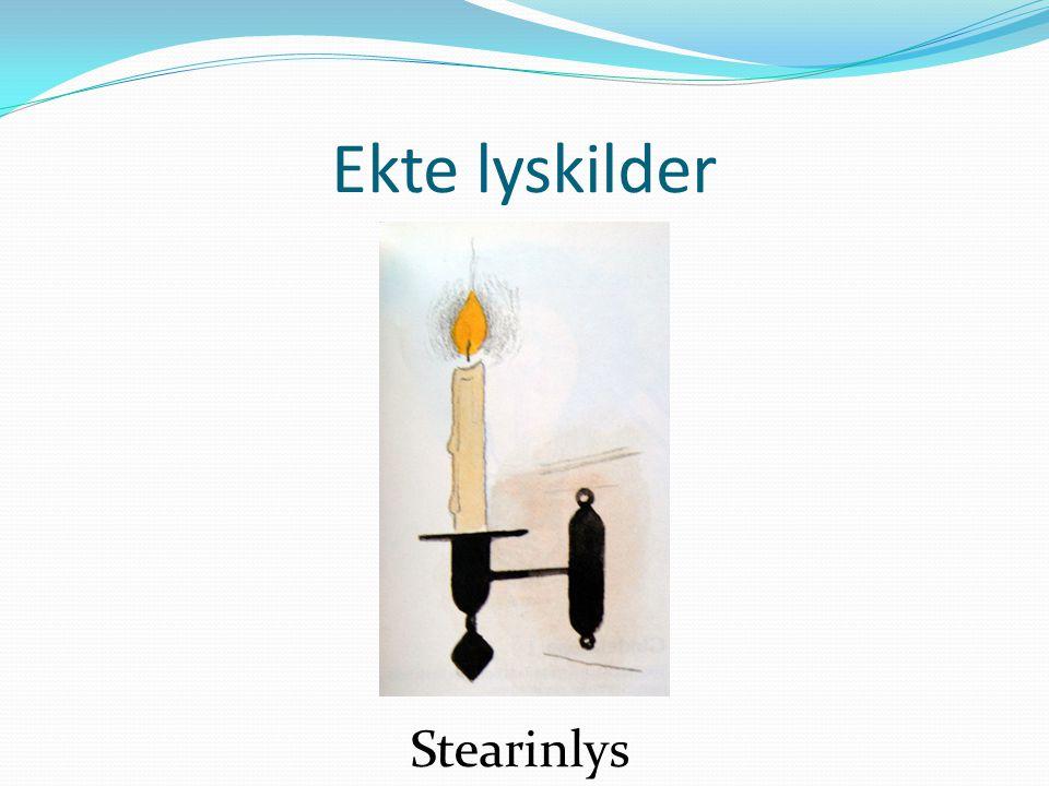Ekte lyskilder Stearinlys