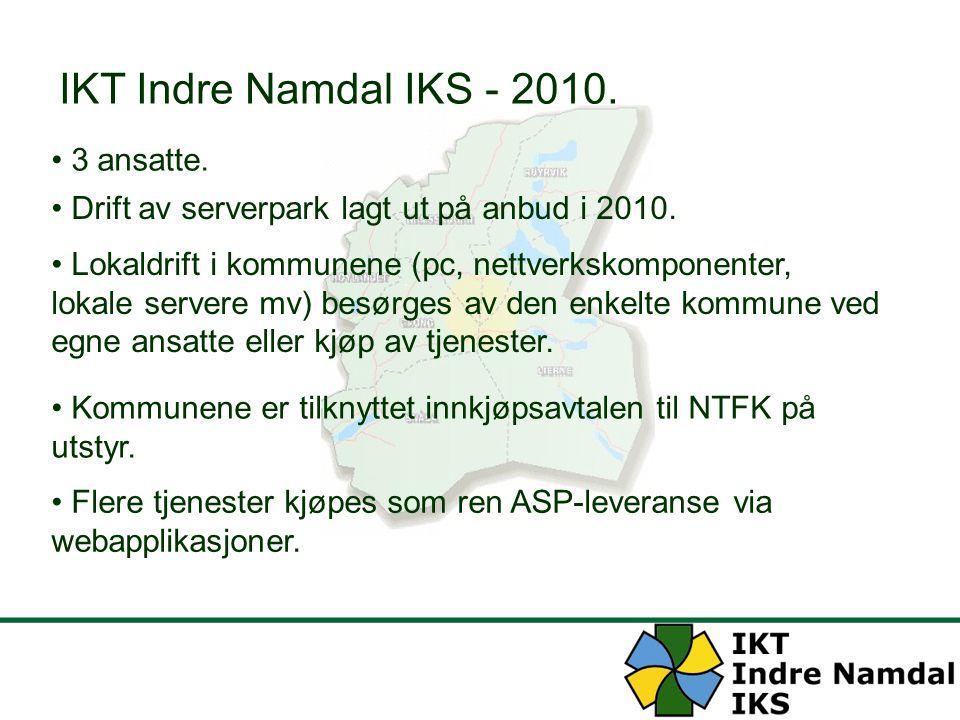 IKT Indre Namdal IKS - 2010. 3 ansatte.