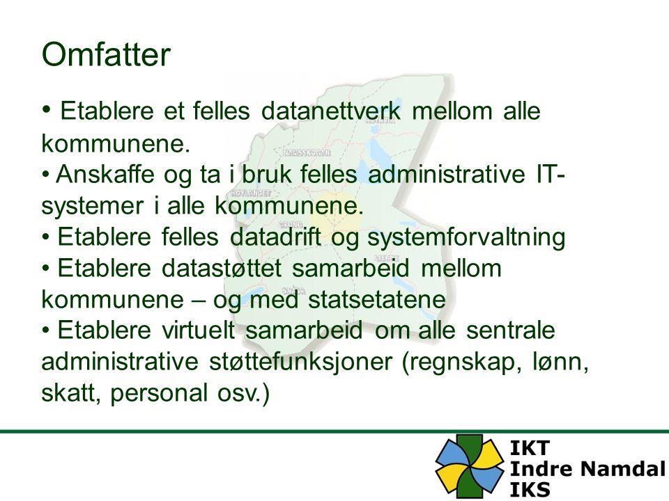 Omfatter Etablere et felles datanettverk mellom alle kommunene.
