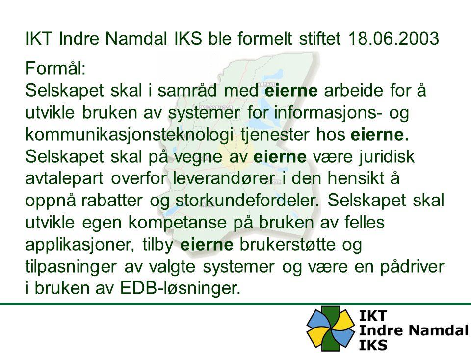IKT Indre Namdal IKS ble formelt stiftet 18.06.2003