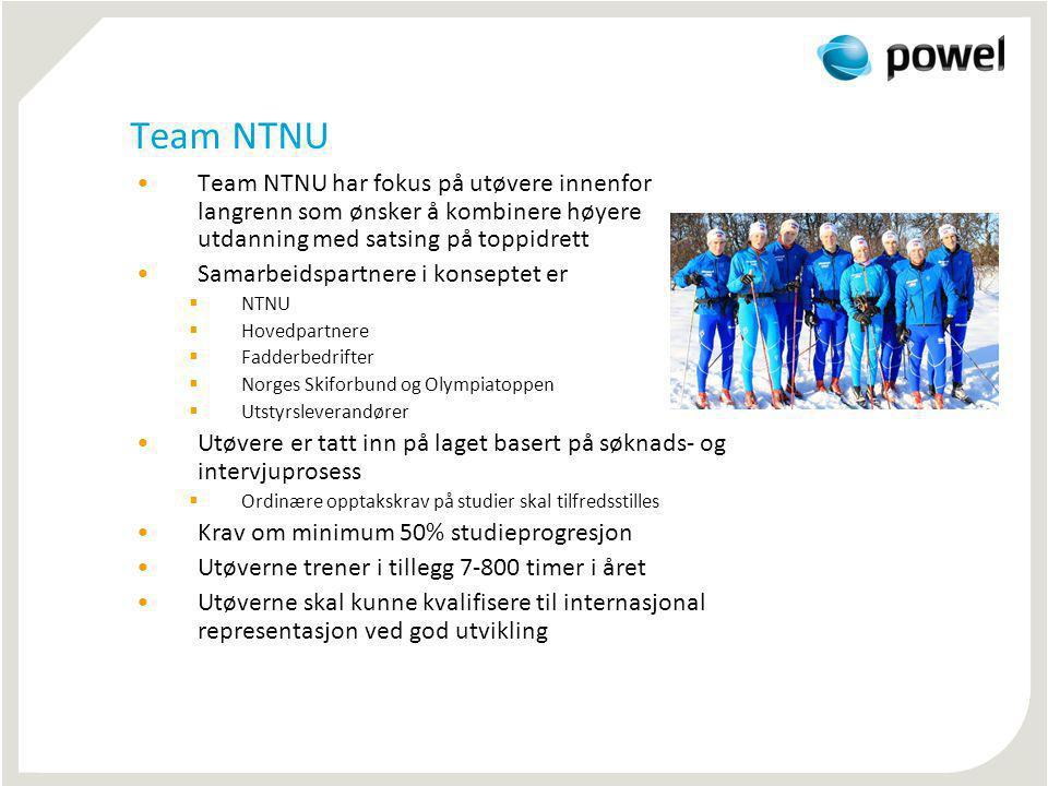 Team NTNU Team NTNU har fokus på utøvere innenfor langrenn som ønsker å kombinere høyere utdanning med satsing på toppidrett.