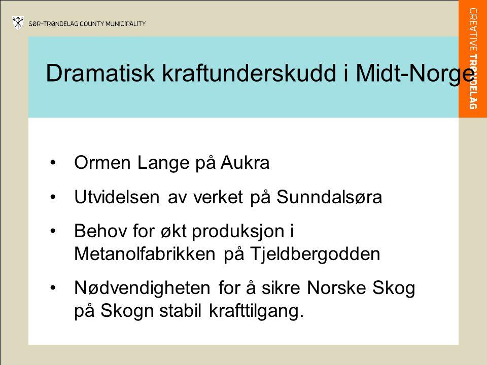 Dramatisk kraftunderskudd i Midt-Norge
