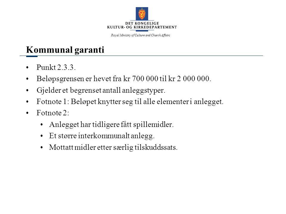 Kommunal garanti Punkt 2.3.3.
