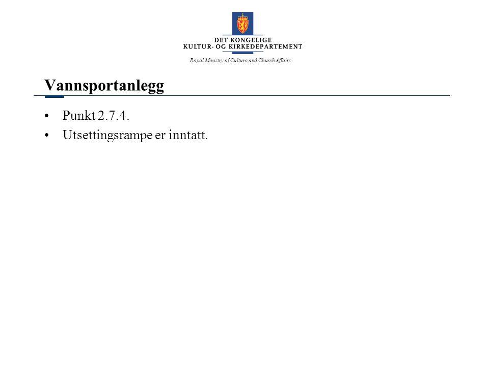 Vannsportanlegg Punkt 2.7.4. Utsettingsrampe er inntatt.