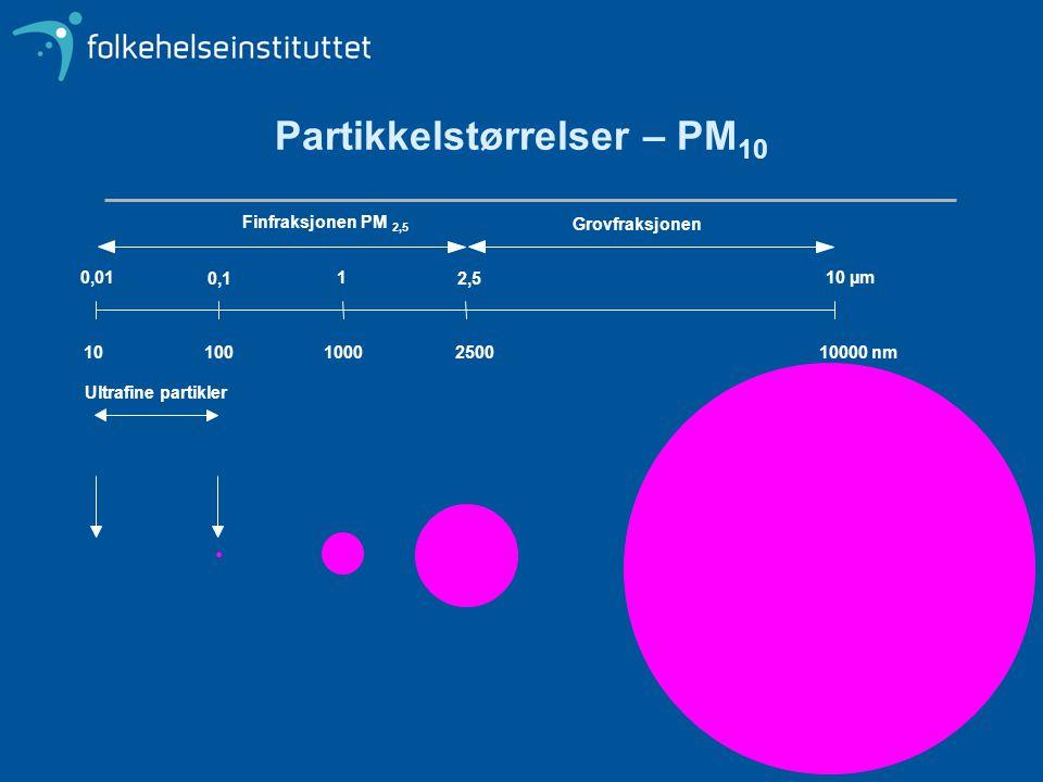Partikkelstørrelser – PM10