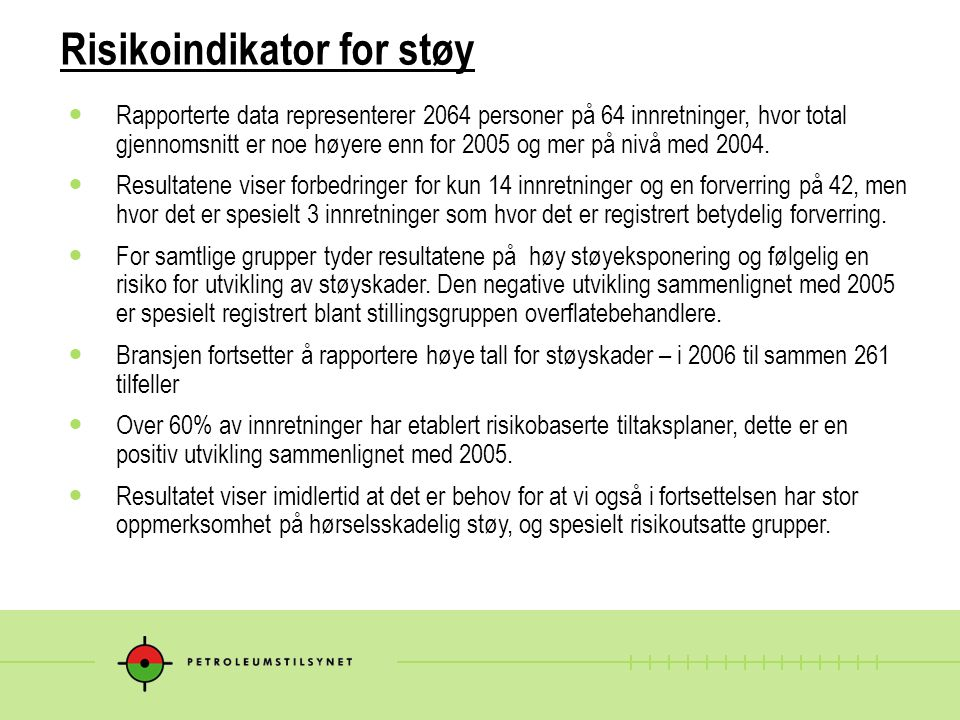 Risikoindikator for støy