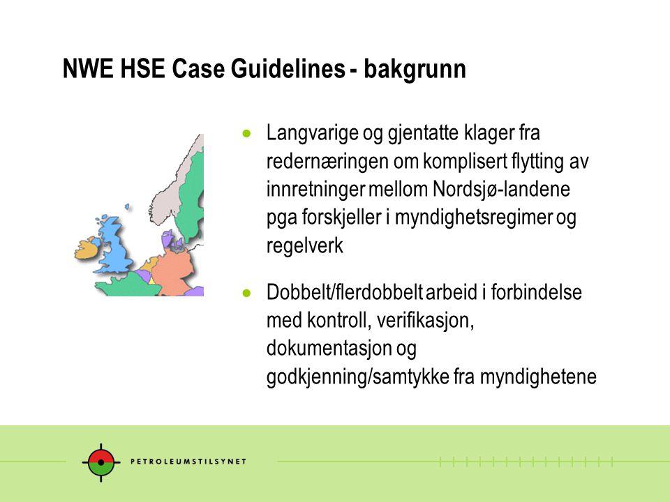NWE HSE Case Guidelines - bakgrunn