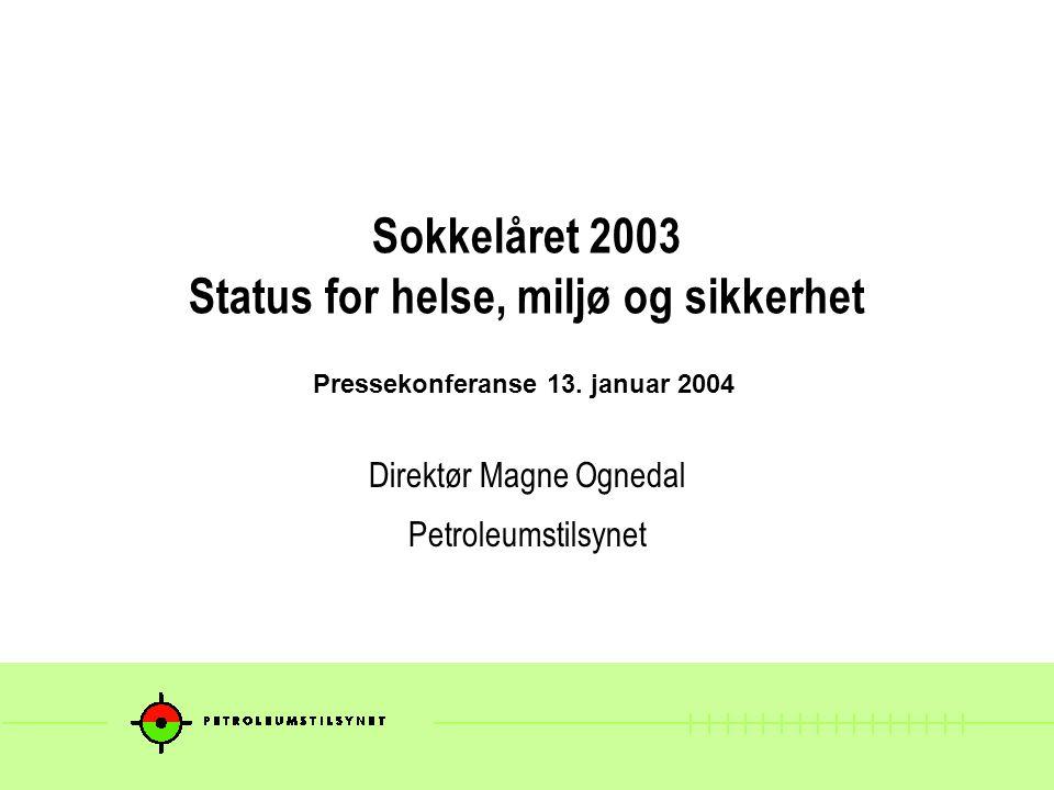 Sokkelåret 2003 Status for helse, miljø og sikkerhet