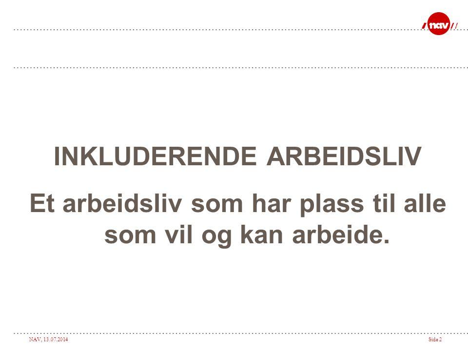 INKLUDERENDE ARBEIDSLIV