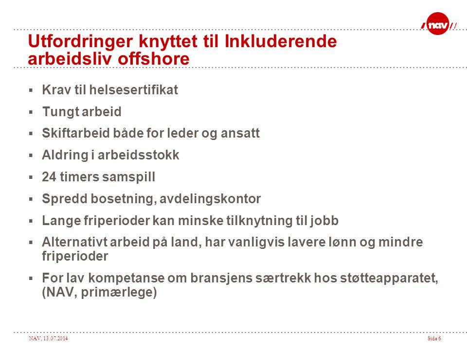 Utfordringer knyttet til Inkluderende arbeidsliv offshore