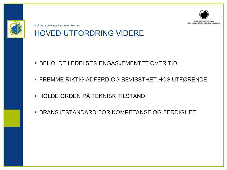 OLF Gass Lekkasje Reduksjon Prosjekt HOVED UTFORDRING VIDERE