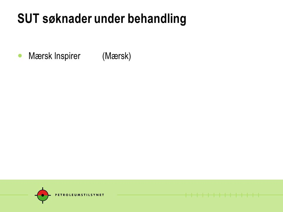 SUT søknader under behandling
