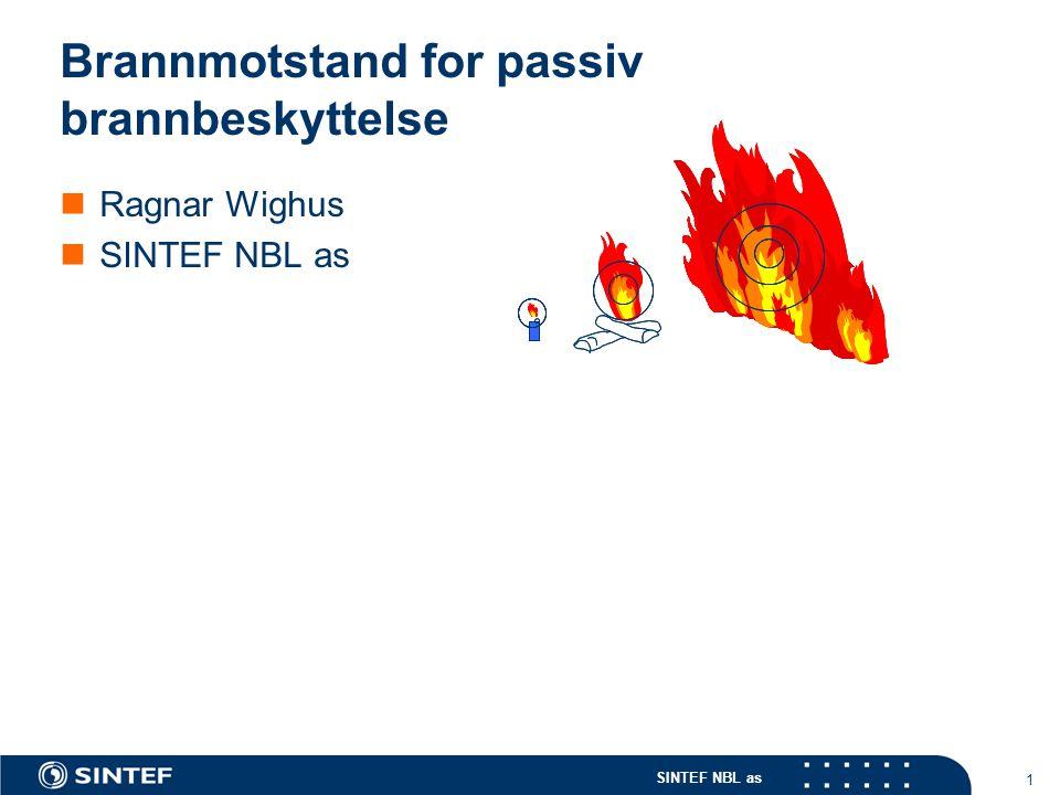 Brannmotstand for passiv brannbeskyttelse
