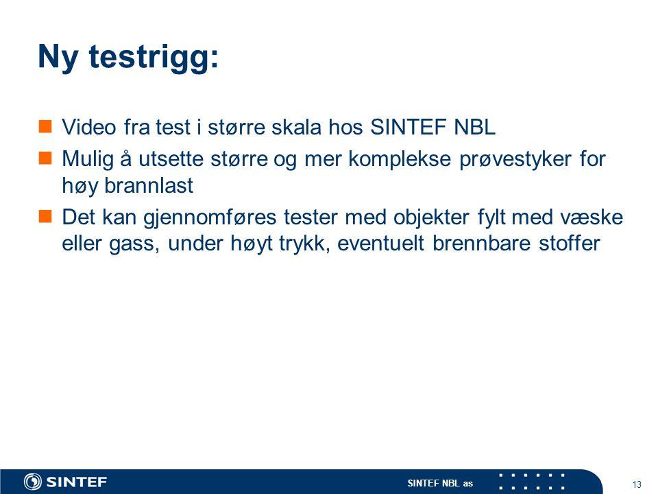 Ny testrigg: Video fra test i større skala hos SINTEF NBL