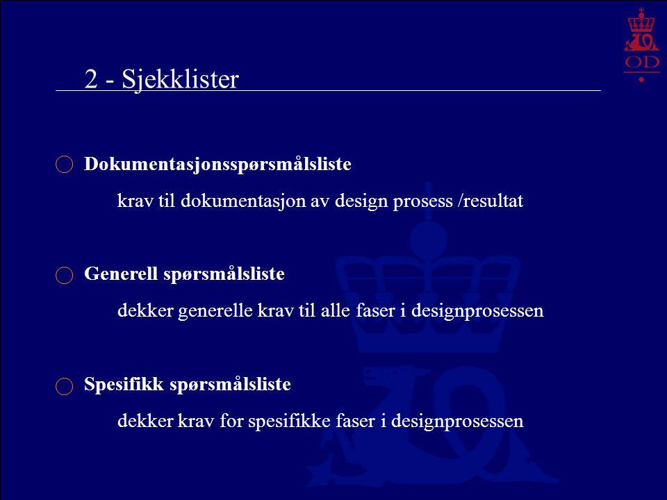 2 - Sjekklister Dokumentasjonsspørsmålsliste