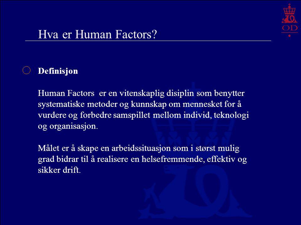Hva er Human Factors Definisjon