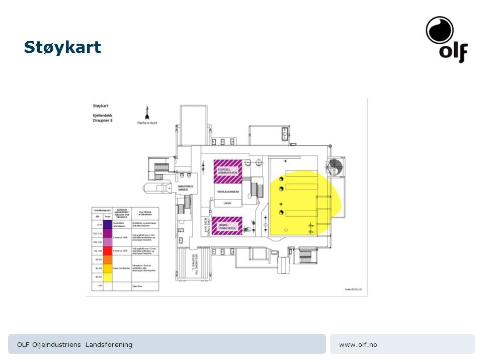 Støykart OLF Oljeindustriens Landsforening