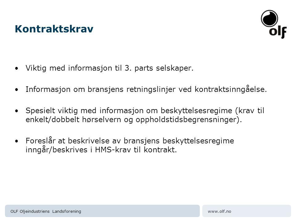 Kontraktskrav Viktig med informasjon til 3. parts selskaper.