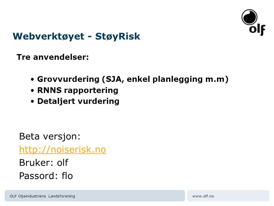 Webverktøyet - StøyRisk