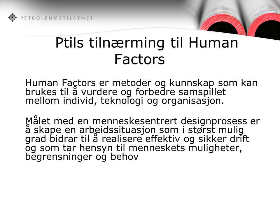 Ptils tilnærming til Human Factors