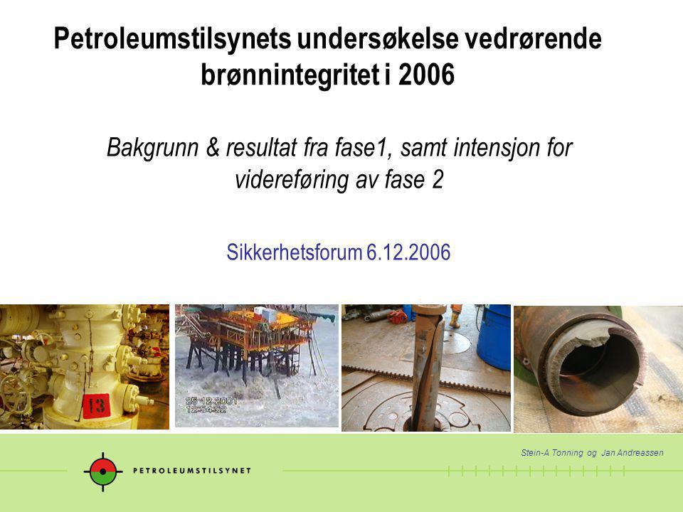 Petroleumstilsynets undersøkelse vedrørende brønnintegritet i 2006