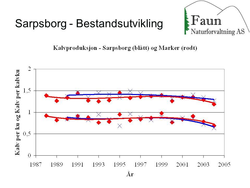 Sarpsborg - Bestandsutvikling