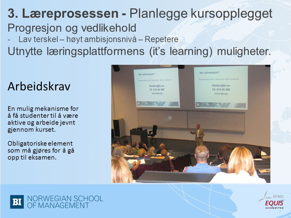 3. Læreprosessen - Planlegge kursopplegget