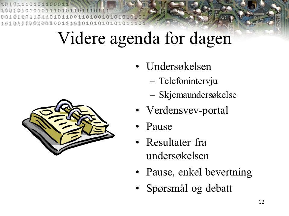 Videre agenda for dagen