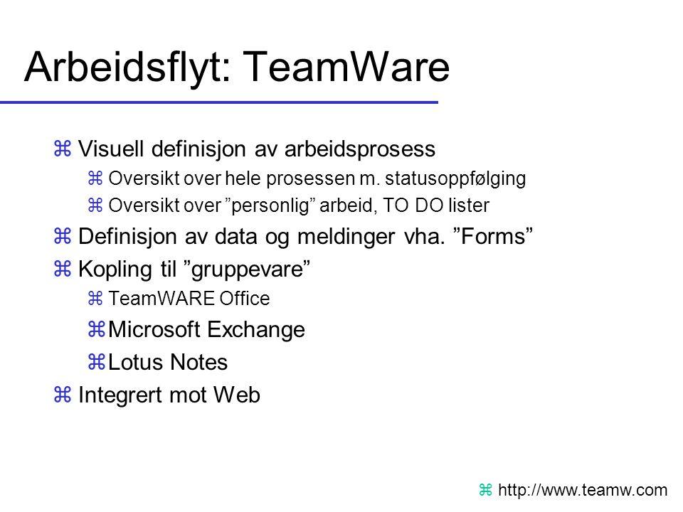 Arbeidsflyt: TeamWare