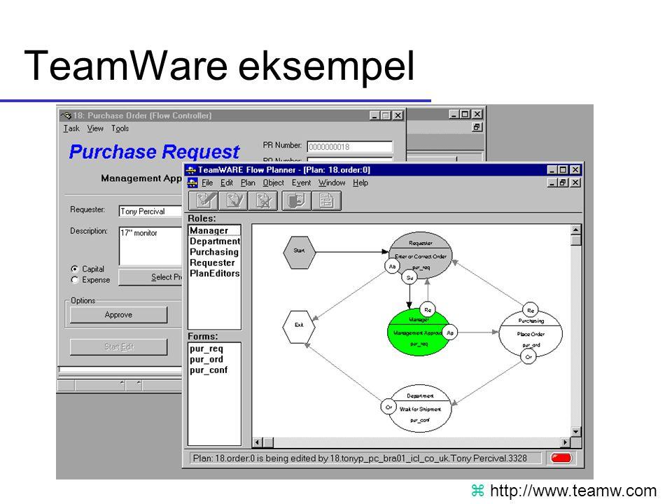 TeamWare eksempel http://www.teamw.com