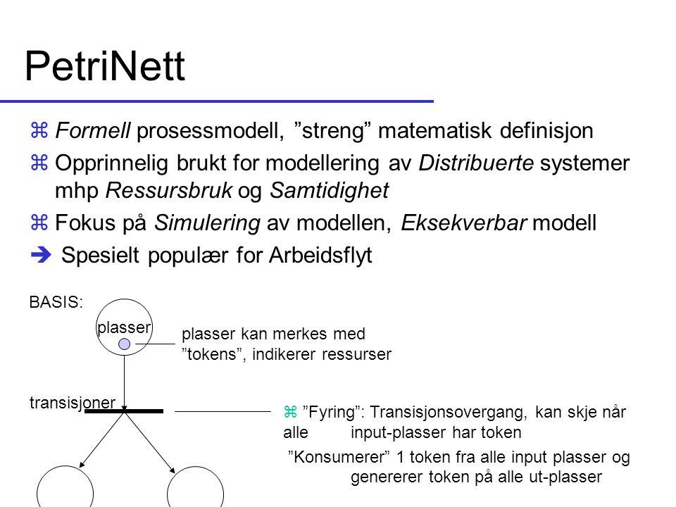 PetriNett Formell prosessmodell, streng matematisk definisjon