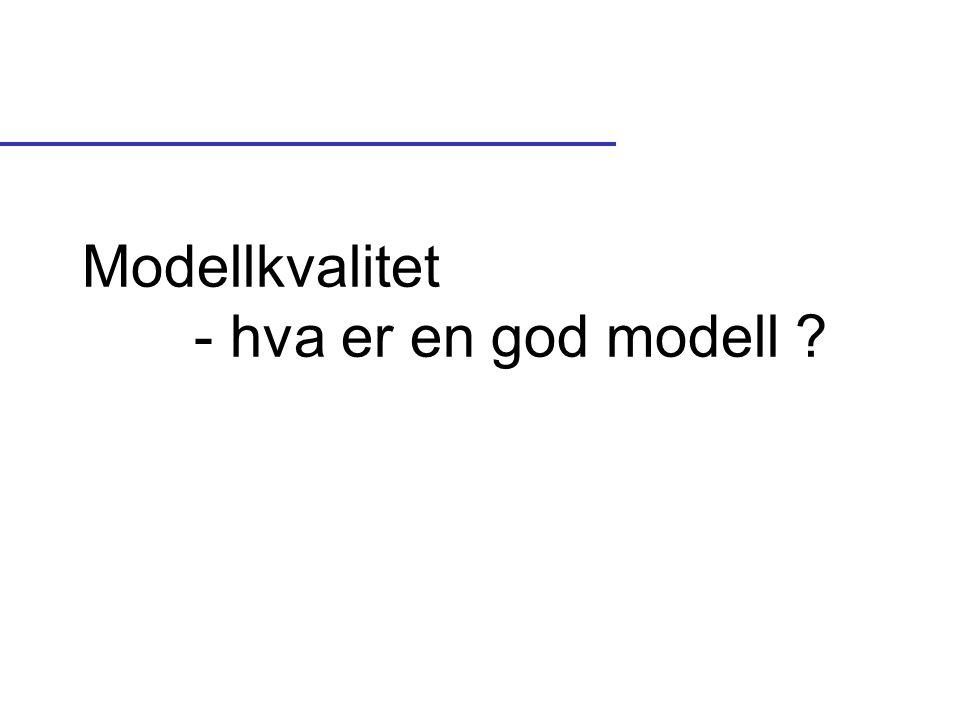 Modellkvalitet - hva er en god modell