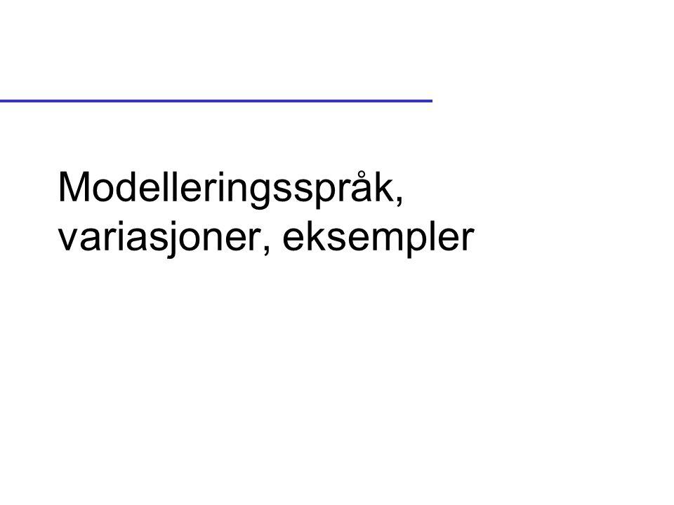 Modelleringsspråk, variasjoner, eksempler