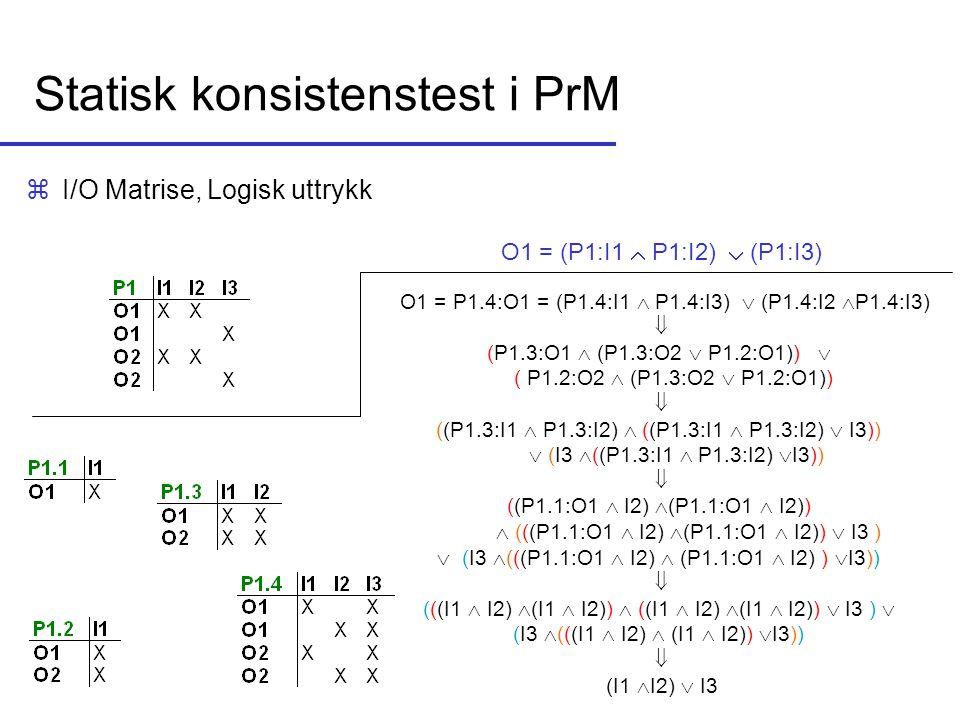 Statisk konsistenstest i PrM