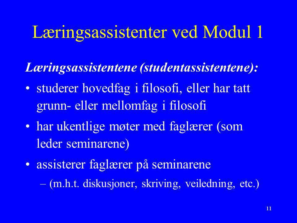 Læringsassistenter ved Modul 1