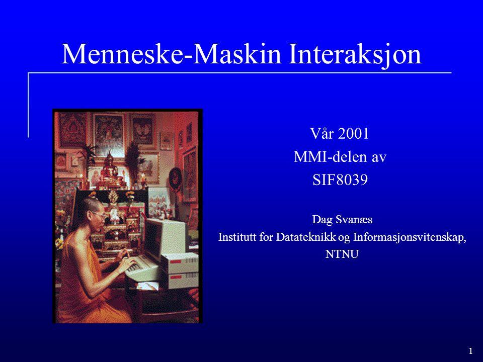 Menneske-Maskin Interaksjon