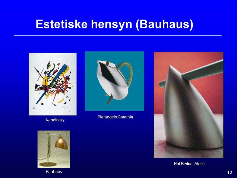 Estetiske hensyn (Bauhaus)