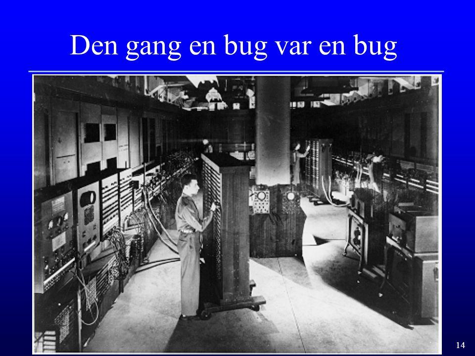 Den gang en bug var en bug